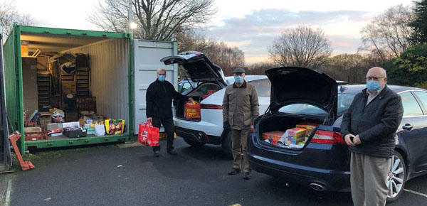 John Selley (left) and members of the Wigan Group loaded and ready to deliver.