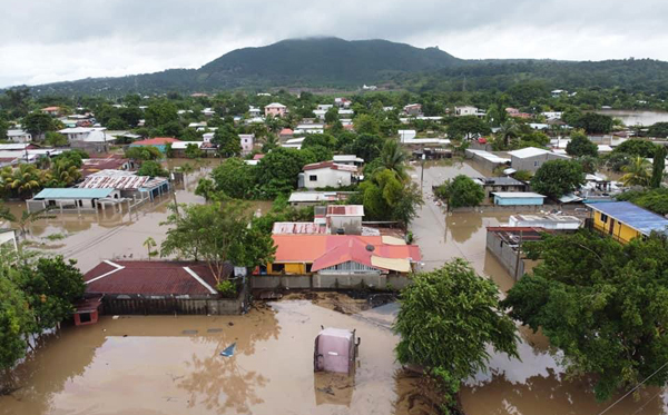 Flooded communities in Honduras in the aftermath of Hurricane Iota, the strongest Atlantic hurricane of 2020.