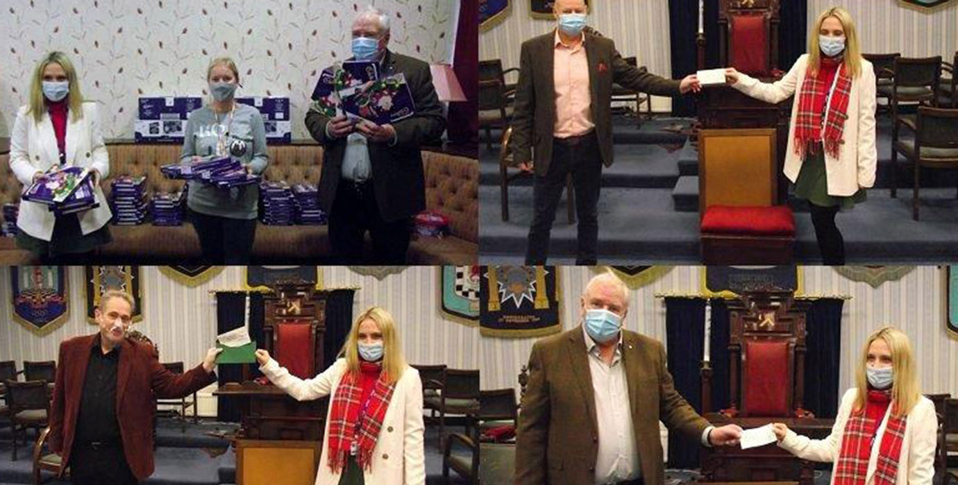 Pictured from left to right are; top left: Charli Johnson, Caroline Gomery and Alan Berwick. Top right: John Cross and Charli Johnson. Bottom left: Ian Smith and Charli Johnson. Bottom right: Alan Berwick and Charli Johnson.