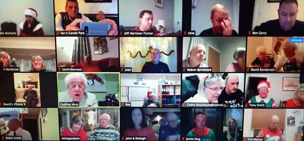 Screen shot of the South Fylde Zoom meeting.