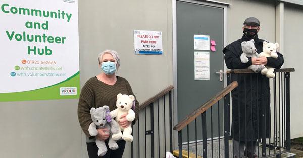 Chris Todd and Helen Higginson outside of the Volunteer Hub.
