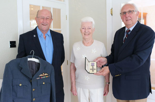 Pictured from left to right, are: John Doig, Doreen Payne and Victor Charlesworth