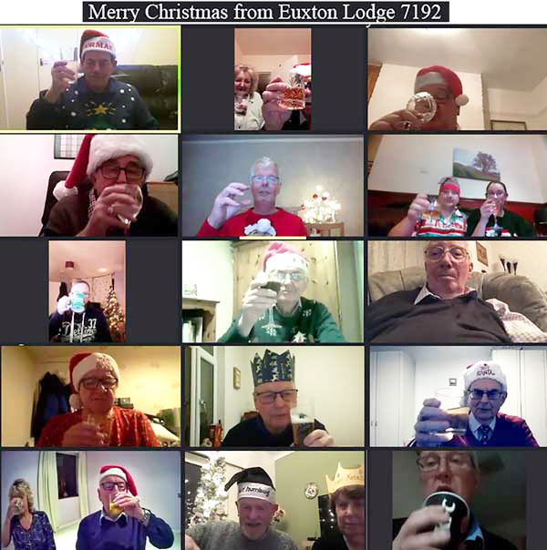 Zoom Christmas cheer from Euxton Lodge.