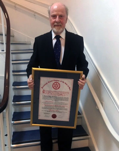 Bill with his Royal Arch Certificate of Merit.