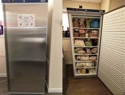 The new freezer.
