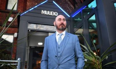 Wayne Devlin outside Mulino's Restaurant in Urmston.
