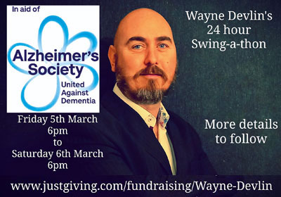 Promotional poster for Wayne's Swing-a-thon.