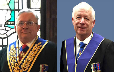 Pictured left: Tony Harvey, who gave the first presentation. Pictured right: Stewart Cranage, who gave the second presentation.