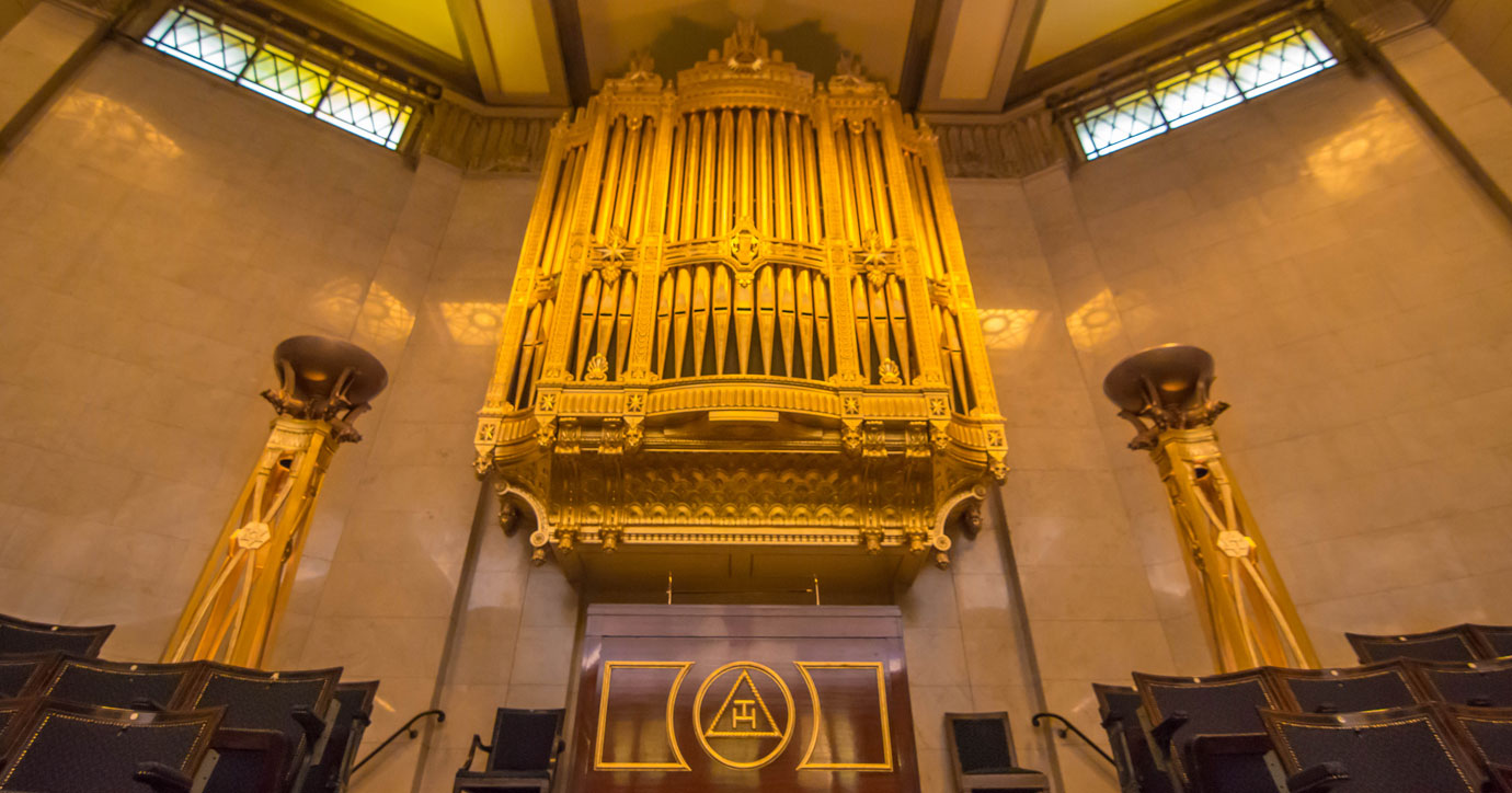 The venue, the Grand Temple at Freemasons' Hall.