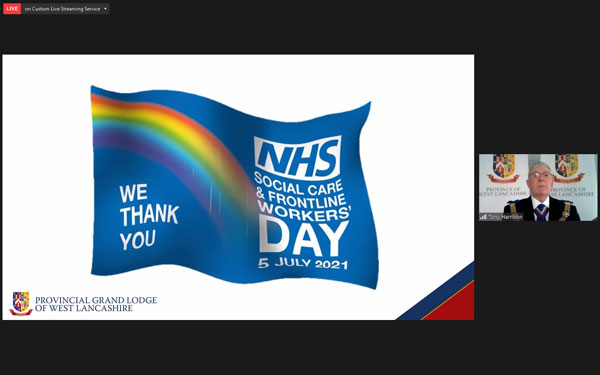 Tony online talks about the planned NHS day.