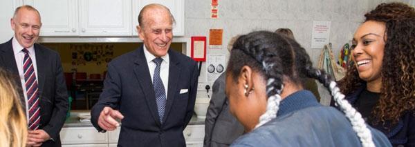 The Duke of Edinburgh visits Ignite Trust Centre in June 2016.