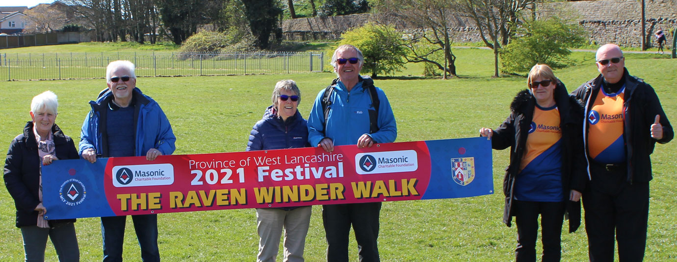 Pictured from left to right at the start of the walk, are: Anne and David Randerson, Susan and John Robbie Porter and Susan and David Winder in Heysham Village car park.