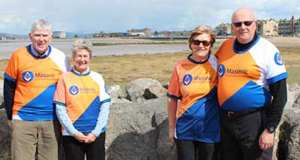 Pictured from left to right, are: Tony and Maureen Harrison and Susan and David Winder.