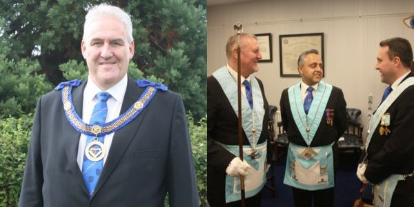 Pictured left: Assistant Provincial Grand Master Andy Whittle. Pictured right: Andy explained how the three ceremonies help to make good men better.