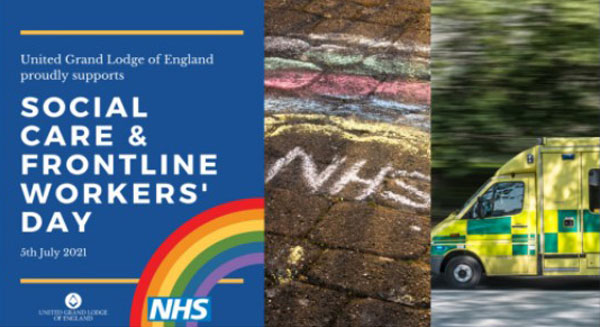Supporting the NHS, Social Care and Frontline Workers' Day.