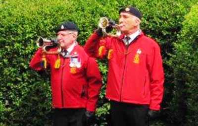 Roy Bond and John Scott, buglers from Fleetwood Old Boys' Band.