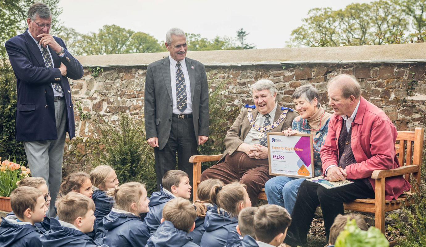 Engaging with the 'Farms for city children' project.