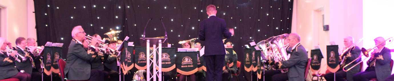 The Greenalls Brass Band.