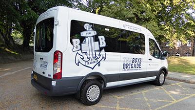 The 15-seater minibus.